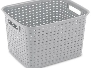 Cement Sterilite Tall Weave Baskets  Case of 6