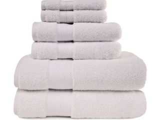 Miranda Haus Rayon from Bamboo and Cotton 6 Piece Bathroom Towel Set  Retail 99 99