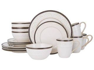 Pfaltzgraff Promenade Scroll Stoneware 16 Piece Dinnerware Set