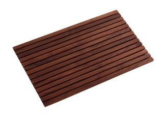 Teak Brown Shower Mat 31 4 x19 6   Damaged  Retail 93 49