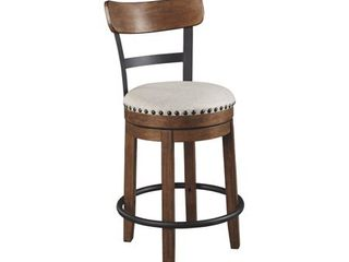 Valebeck Brown Counter Height Swivel Barstool  Retail 157 49