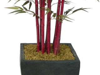 Faux lifelike with Decorative Planter Pot for Artificial Bamboo Tree  Tree Not Included   Box 2 of 2  Incomplete