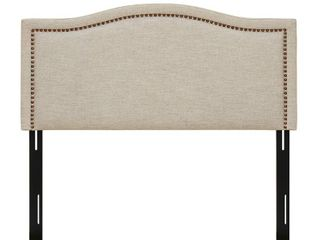 Augusta linen Upholstery Headboard by Madison Park  Natural  King   Retail 302 99
