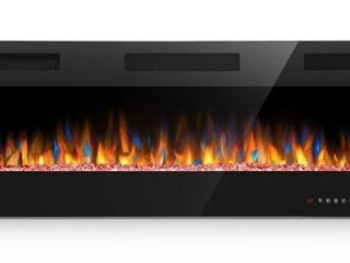 50 inch Ultra Thin Electric Fireplace Insert for Wall Mounted or In Wall Installation  Retail 274 49