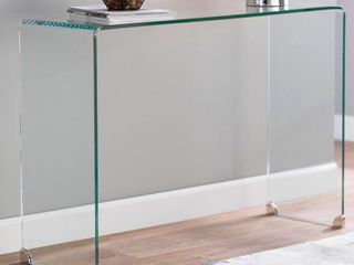 Solid Glass Sofa Table
