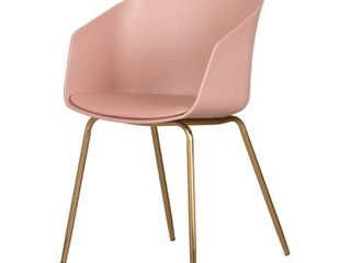 Flam Dinning Chair with Golden Metal legs  Pink   Retail 129 99