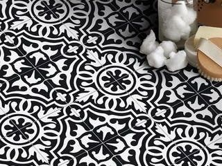 Handmade Baha in Black and White Tile  Pack of 12  Morocco  Retail 127 49