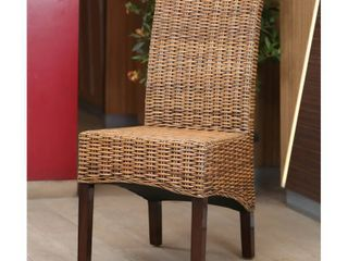 International Caravan Java Rattan Mahogany Dining Chair   l  48  x  D 60  x  H 101    Retail 108 99