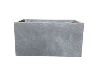 Kante lightweight Concrete Outdoor Slate Gray  large Planter  31  x 15  x 15  Retail 103 49  lIGHT DAMAGE  SEE PICTURES