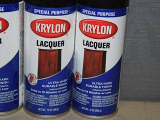 6 Cans Krylon Special Purpose lacquer Spray Paint   Black