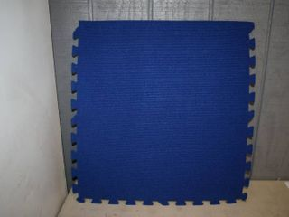 14 Pieces Carpet Covered Foam Flooring 24  x 24
