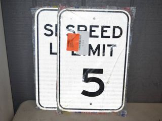 4 Metal Reflective Speed limit Signs 12  x 18