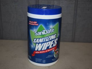 Tub Sanidate Sanitizing Wipes   Green Clean   125 Count