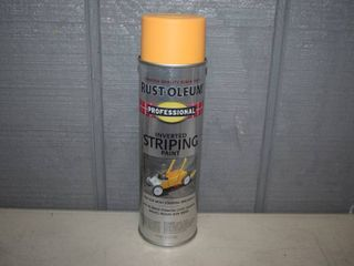16 Cans Rust Oleum Inverted Striping Paint
