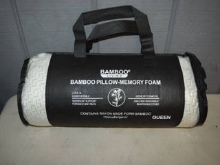 Bamboo living Queen Bamboo Shredded Memory Foam Pillow