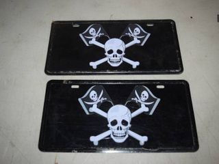 10 Metal Pirate license Plates
