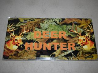 7 Metal Deer Hunter license Plates