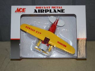 Diecast Metal Airplane lockheed Vega