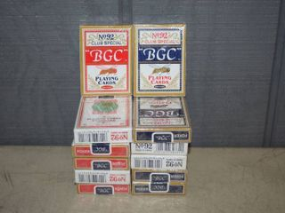 12 Decks Playing Cards   6 each red and blue