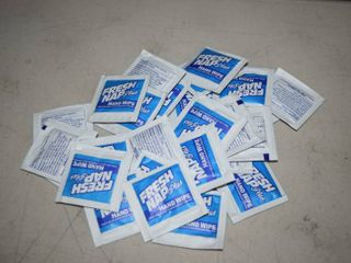 250 Fresh Nap Plus Hand Wipe Packets   Antibacterial Hand Sanitizer Wipes