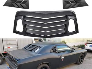 E Cowlboy Rear and Side Window louver Set for 2008 2020 Dodge Challenger