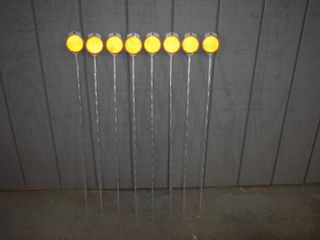 8 Hy Ko Products Orange Driveway Markers 2 Way Reflective
