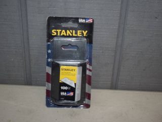 100 Stanley All Purpose Razor Blades in Dispenser Pack