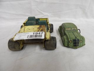 VINTAGE WIND UP CAR AND METAl BUDDY l JEEP