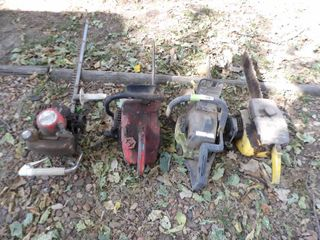 3 CHAIN SAWS  GAS HEDGE TRIMMER