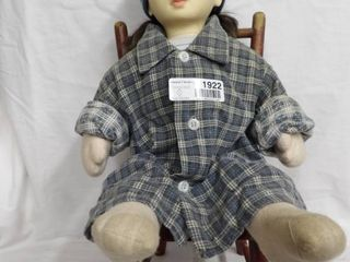 ANTIQUE DOll CHAIR 1920 S AND STREET KID DOll
