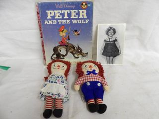 PETER AND THE WOlF  RAGGEDY ANNE AND ANDY BOOKS  SHIRlEY TEMPlE PICS