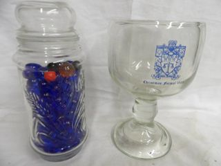 BlUE MARBlES AND HEAVY BEER GlASS
