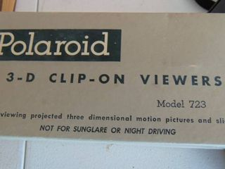 Polaroid 3D clip on viewers   in original box