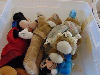 Micky Mouse and Disney plush items