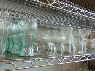 huge glass lot   Coca Cola glasses   wine glasses and much more