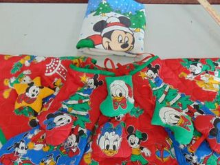 Mickey Mouse Christmas tree skirt   stockings and more