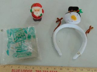 Frosty head band   Santa candle   Pooh
