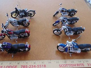 8 licensed Harley Davidson motorcycle ornaments