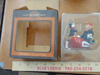 Harley Davidson motorcycle ornament   elf and tank