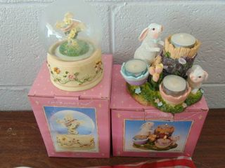 Easter candle holder   music box