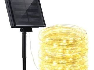 72ft IP65 Waterproof 200 lED Solar String lights Outdoor Indoor Patio Garden Decorative