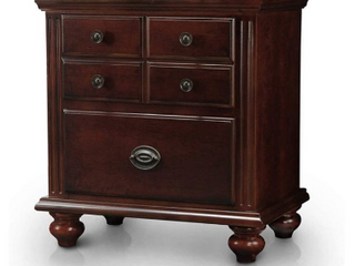 Furniture Of America Sibu European Cherry Solid Wood Cherry 2 drawer