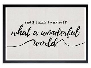 Wynwood Studio  A Wonderful life  Typography and Quotes Framed Wall Art Print   White  Black