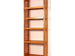John louis Home 16in  deep Solid Wood Deluxe Storage Tower Honey Maple  Retail 336 49