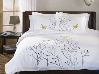 Impressions Swallow 3 Piece Cotton Duvet Cover Set  King California King