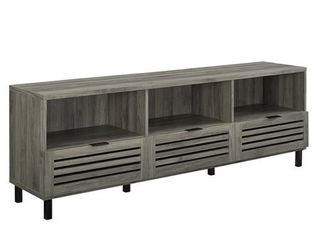 Walker Edison 70 inch Slat Door Tv Stand Console