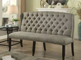 3 seater loveseat bench color antique black and light grey