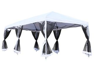 Outsunny Easy Pop Up 20 foot Party Tent with Removable Walls   Retail 197 00