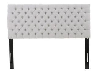 Jezebel Adjustable Full  Queen Button Tufted Headboard by Christopher Knight Home  Retail 147 49