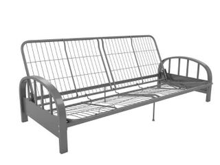 Aiden Futon Frame with Full Futon Mattress  Gray